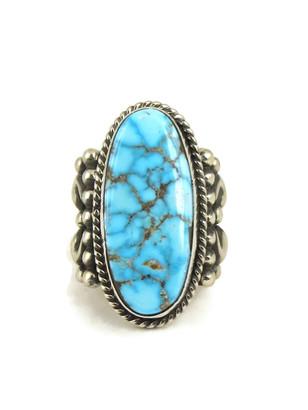 Kingman Webbed Turquoise Ring Size 9 1/2 by Albert Jake
