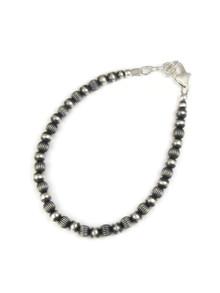 Silver Bead Bracelet - Large(BR6025)