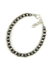 Silver Bead Bracelet - Large (BR6076)