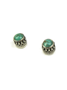Turquoise Gallery Wire Post Earrings (ER4196)