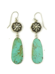 Turquoise Slab Concho Earrings by Ronald Chavez (ER5117)