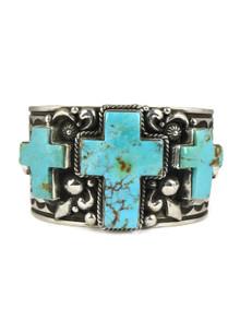 Kingman Turquoise Cross Cuff Bracelet by Albert Jake