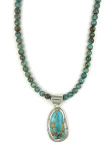 Arizona South Hill Turquoise Pendant Necklace by Phillip Sanchez (NK4630)