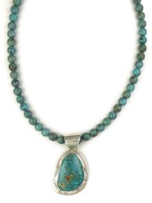 Arizona South Hill Turquoise Pendant Necklace by Phillip Sanchez (NK4632)