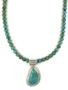 Arizona South Hill Turquoise Pendant Necklace by Phillip Sanchez (NK4633)