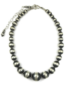 Silver Bead Graduated Necklace (NK4335)