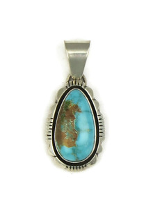 Pilot Mountain Turquoise Pendant by Cooper Willie (PD4068)