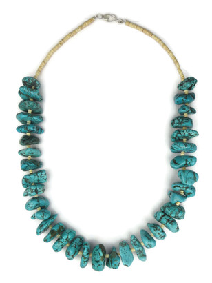 """Chunky Turquoise Nugget Necklace 20"""" (NK4343)"""