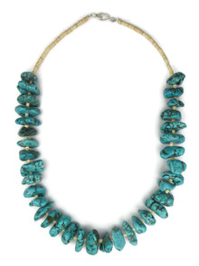 "Chunky Turquoise Nugget Necklace 20"" (NK4343)"