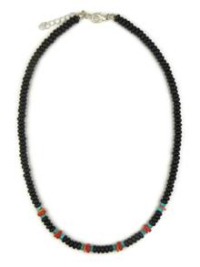 Onyx & Gemstone Bead Necklace (NK4345)