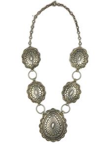 Silver Concho Necklace (NK4537)