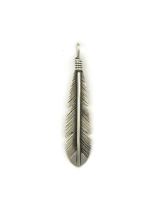 Silver Feather Pendant by Raymond Coriz (PD4112)