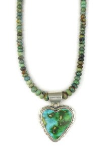 Sonoran Turquoise Heart Necklace by Lucy Valencia