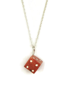 Bamboo Coral Dice Pendant (PD4116)