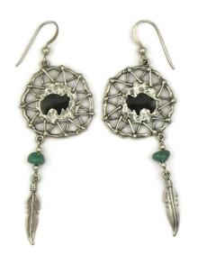 Buffalo Medicine Shield Earrings (ER5136)