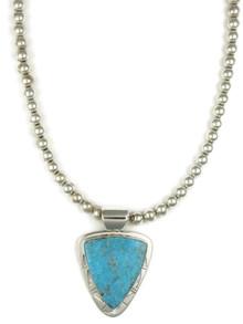 Kingman Turquoise Pendant Necklace by Phillip Sanchez (NK4546)