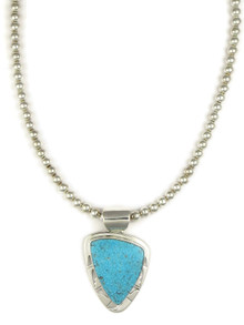 Kingman Turquoise Pendant Necklace by Phillip Sanchez (NK4550)