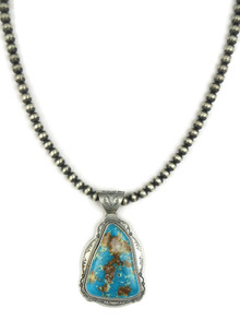 Turquoise Mountain Pendant Necklace by Joe Piaso (NK4552)