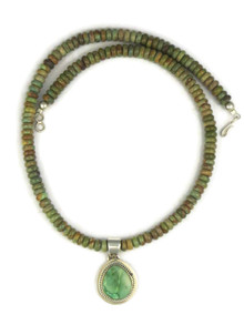 Emerald Valley Turquoise Necklace by Lyle Piaso (NK4558)