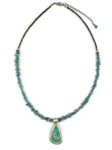 Fox Turquoise Pendant Necklace by Phillip Sanchez (NK4559)