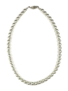 "Sterling Silver 8mm Silver Beads 18"" (NK4574)"