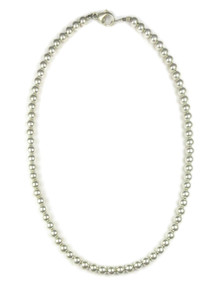 """Sterling Silver 6mm Beads 20"""" (NK4575-20)"""