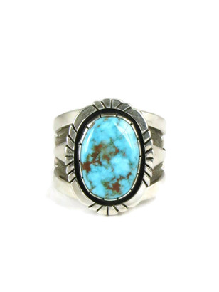 Kingman Turquoise Ring Size 10 by Cooper Willie (RG5066)