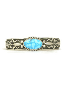 Kingman Turquoise Bracelet by Albert Jake (BR6133)
