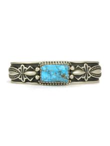 Kingman Turquoise Bracelet -Large- by Albert Jake (BR6134)