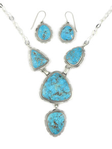 Kingman Turquoise Necklace Set by Evelyn Bahe (NK4544)