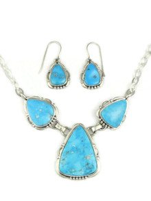 Kingman Turquoise Necklace Set by Evelyn Bahe (NK4581)