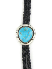 Kingman Turquoise Bolo Tie by Joe Piaso Jr. (BL621)