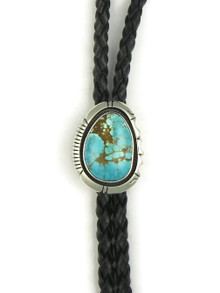 Number 8 Turquoise Bolo Tie by Joe Piaso Jr. (BL627)
