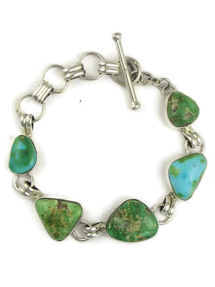 Sonoran Turquoise Link Bracelet by Lyle Piaso