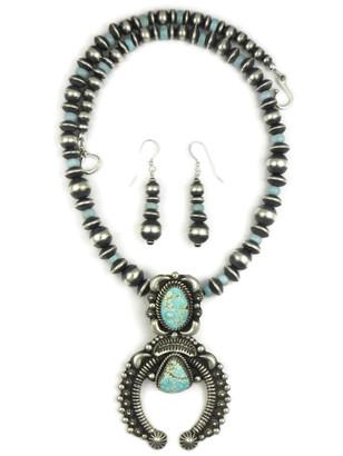 Number 8 Turquoise Naja Necklace Set by LaRose Ganadonegro