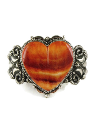Spiny Oyster Shell Heart Bracelet by Derrick Gordon