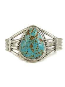 Number 8 Turquoise Bracelet by John Nelson (BR6171)