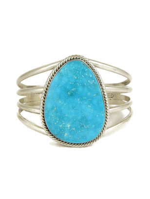 Kingman Turquoise Bracelet by Joe Piaso Jr. (BR6182)