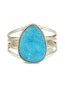 Kingman Turquoise Bracelet by Joe Piaso Jr. (BR6182)
