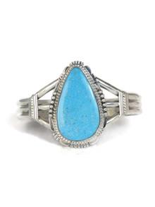 Kingman Turquoise Bracelet by John Nelson (BR6186)