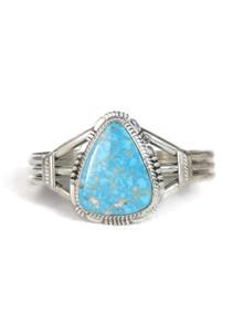 Kingman Turquoise Bracelet by John Nelson (BR6187)