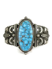 Kingman Turquoise Cuff Bracelet by Derrick Gordon (BR6208)