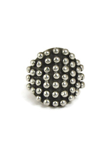 Silver Bead Ring Size 9 by Ronnie Willie (RG5068-9)
