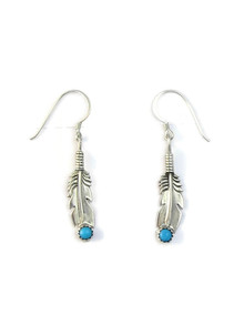 Turquoise Feather Earrings (ER5142)