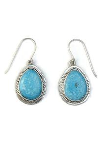 Kingman Turquoise Earrings by Jake Sampson (ER5152)