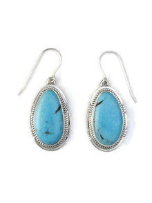 Kingman Turquoise Earrings by Jake Sampson (ER5153)