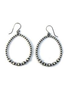 Silver Bead Loop Earrings (ER5168)