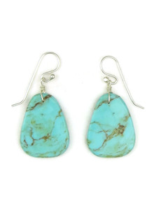 Turquoise Slab Earrings by Ronald Chavez (ER5191)
