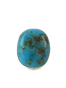 Kingman Turquoise Ring Size 8 1/2 by Raymond Coriz (RG4301)