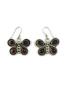Amethyst & Garnet Butterfly Earrings (ER5215)
